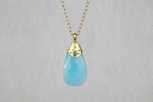 Peruvian Opal Tourmaline Pendant (02742)
