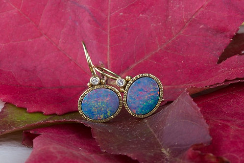 Opal Diamond Earrings (03127)
