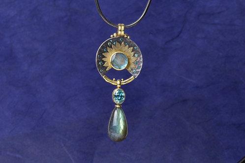 Celestial Labradorite Pendant (01231)