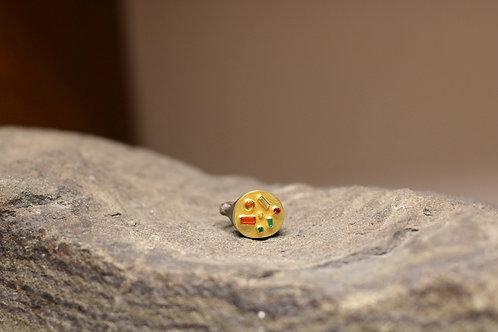 Mixed Metal and Gemstone Ring (06862)