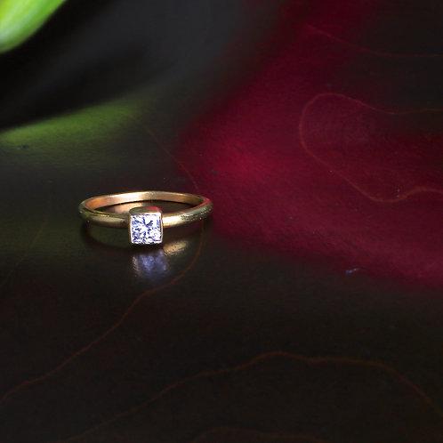 Square Cut Diamond Engagement Ring (06929)