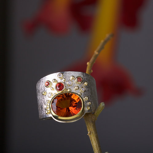 Madeira Citrine Ring (05876)