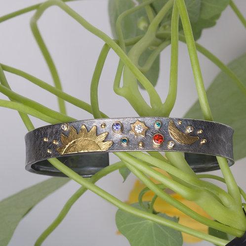 Celestial Thin Cuff Bracelet (06059)