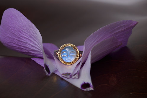 Moonface Moonstone Ring (04821)