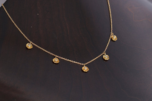 Diamond Dish Necklace (05759)