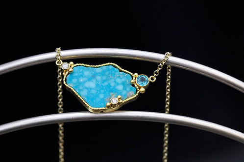 Turquoise and Apatite Necklace (06703)