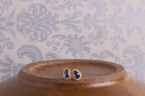 Sapphire Rose Cut Earrings (06824)