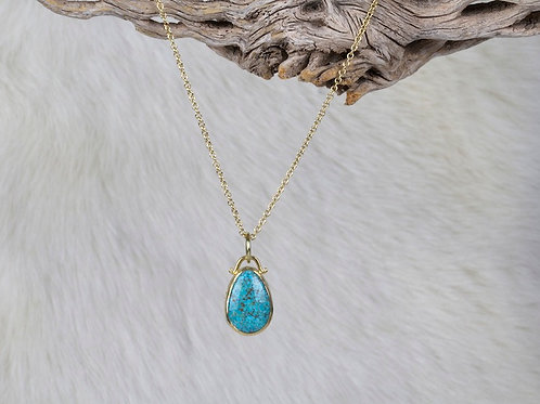 Turquoise Gold Pendant (03290)