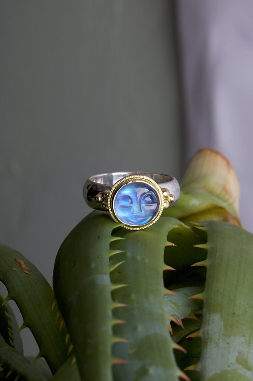 Moonstone Moonface Ring (06048)
