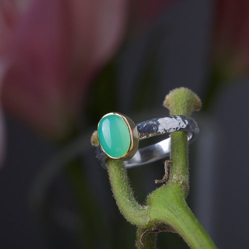 Chrysoprase Stacking Ring (05889)