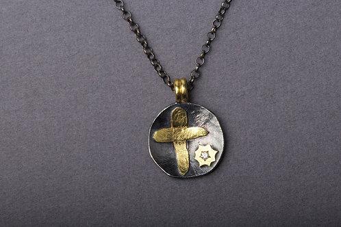 Diamond Cross Pendant (02317)