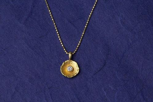 Gold Diamond Pendant (02456)