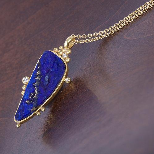 Lapis Freeform Necklace (05636)