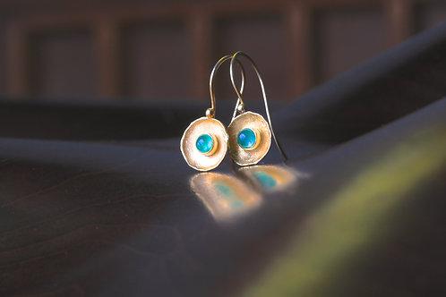 Emerald Dish Earrings (06921)