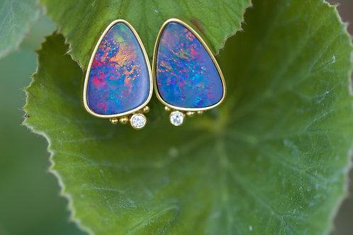 Opal Post Earrings (05347)