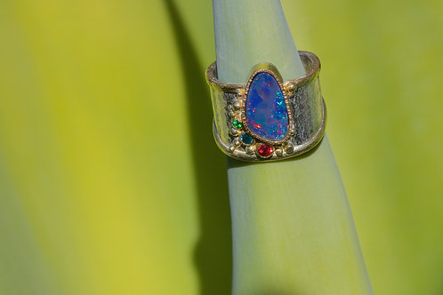 Mixed Gem and Opal Ring (05329)