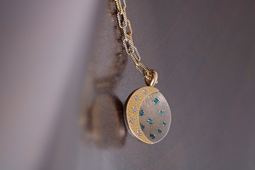 Moon and Diamond Pendant (05732)