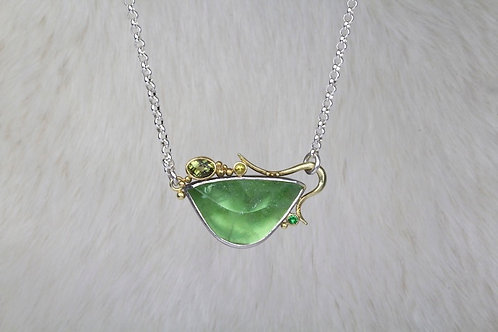 Peridot Pendant with Tourmaline and Tsavorite (03234)