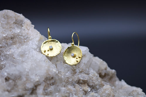Gold Dish Earrings (06685)