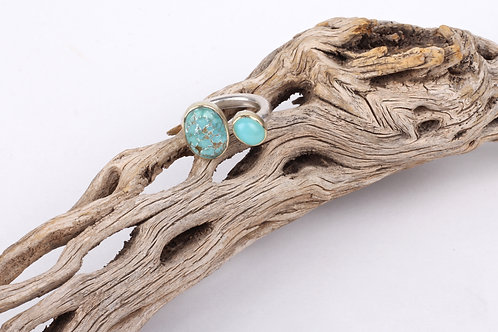 Turquoise and Peruvian Opal Ring (04749)