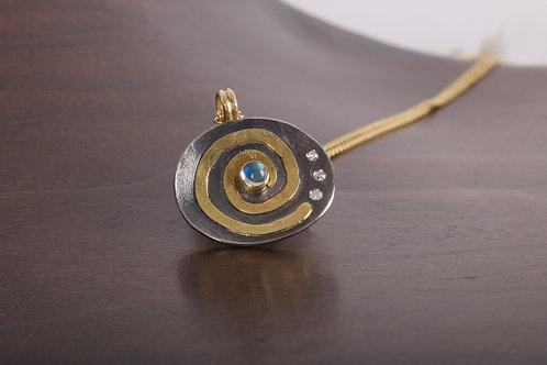 Swirl Right Dimond Pendant (05388)