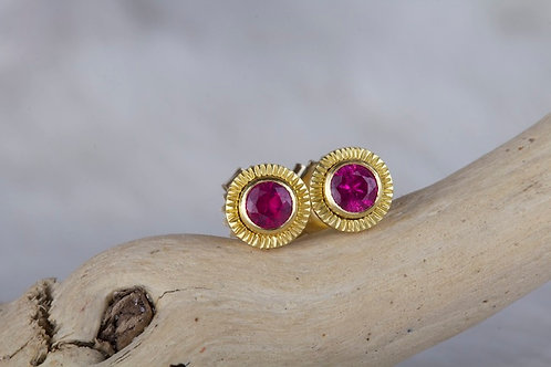 Ruby Stud Earrings (01435)
