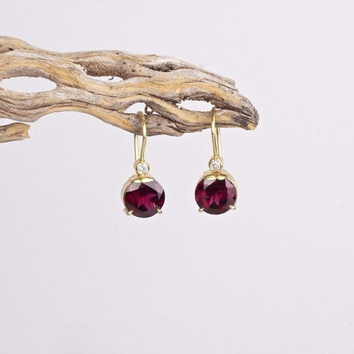 Rhodolite Garnet Earrings (04630)