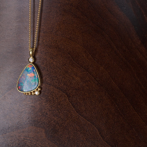 Opal and Diamond Necklace (05677)