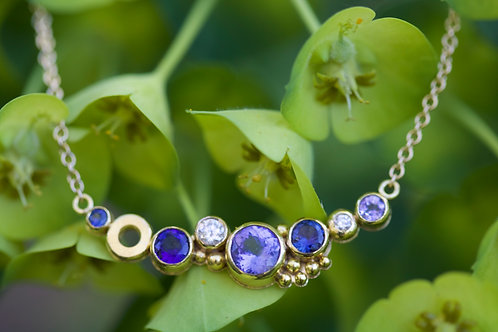 Sapphire East-West Necklace (05809)