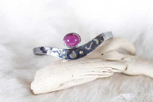 Mixed Metal Ruby Bracelet (04645)