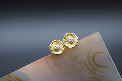 Dish Stud Earrings (06687)