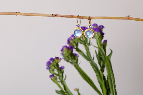 Moonstone and Tanzanite Earrings (06821)