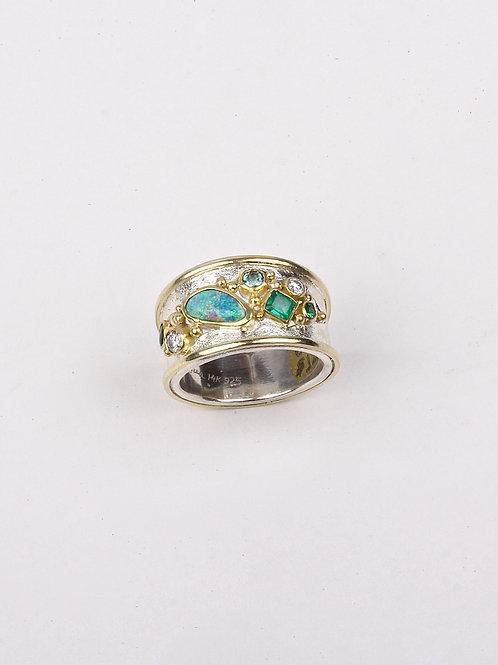 Opal Emerald Ring (04726)