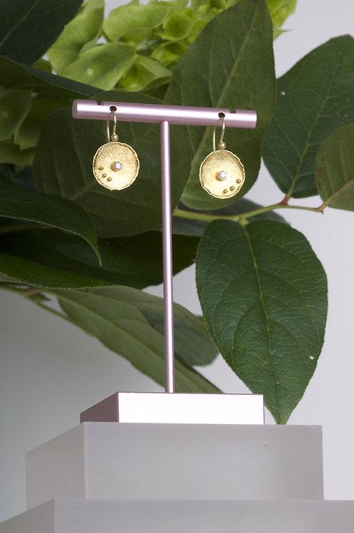 Gold Dish Earrings (06591)