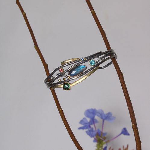 Mixed Gemstone Bracelet (06072)