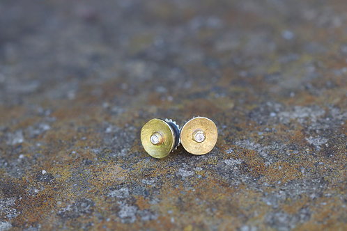 Mixed Metal and Diamond Studs (05354)