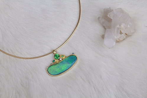 Gold Opal Pendant (03213)