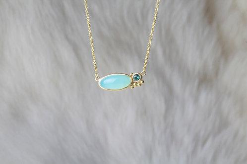 Peruvian Opal Tourmaline Necklace (02116)