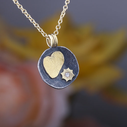 Heart and Sun Pendant (02319)