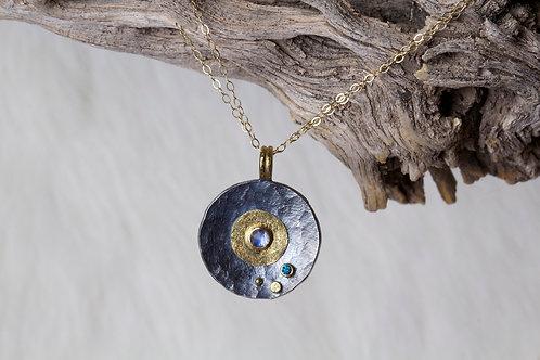 Moonstone Diamond Pendant (02738)