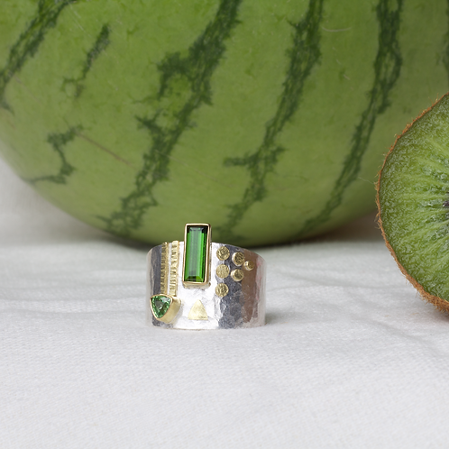 Tourmaline Tsavorite Ring (04042)