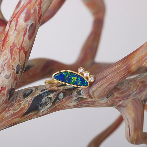 Opal and Diamond Ring (06584)