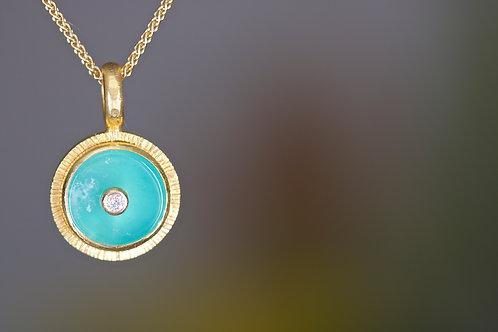 Peruvian Opal Pendant (06197)