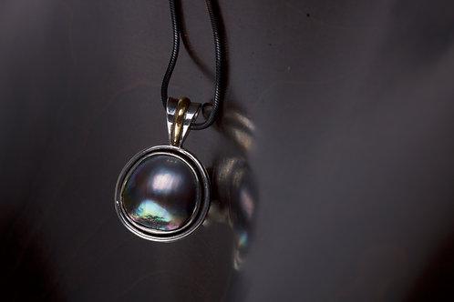 Tahitian Pearl and Silver Pendant (05176)