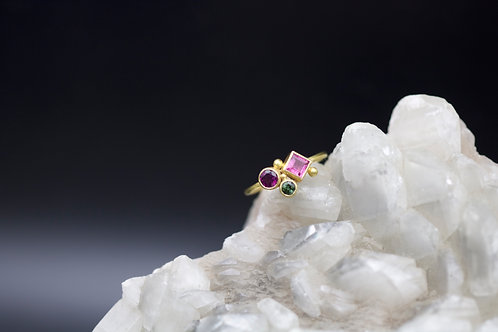 Garnet and Tourmaline Ring (06619)