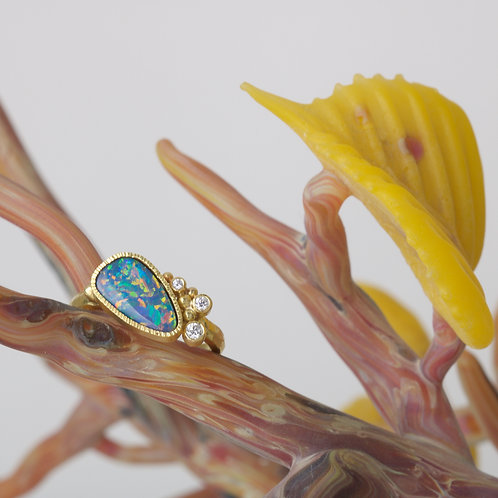 Opal and Diamond Ring (06585)