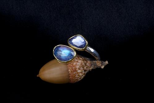 Moonstone Sapphire Ring (04336)
