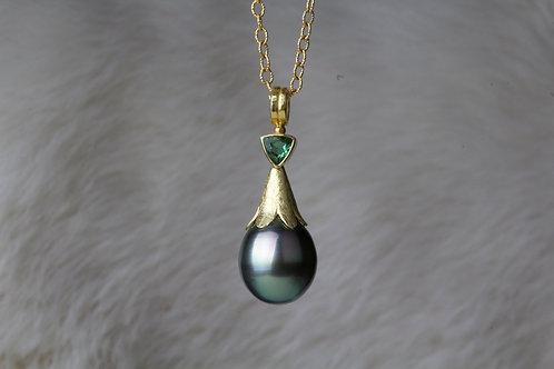 Tahitian Pearl Tourmaline Pendant (01491)