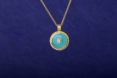Peruvian Opal Pendant (02491)