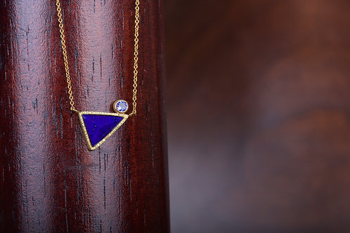 Lapis and Sapphire Necklace (05380)